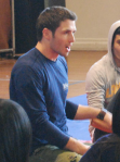 Dan volunteering at the Youth Forum in 2010